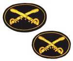 Cavalry Officers Deluxe Kepi & Hat Insignia Badge Set
